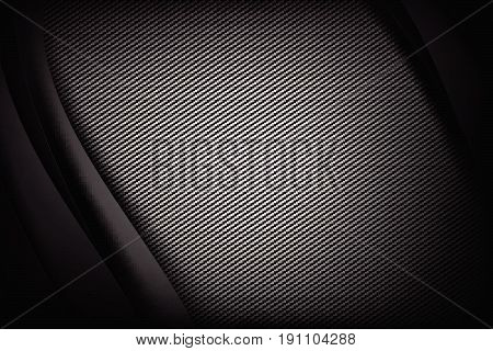 Abstract background dark and black carbon fiber with curve and layered overlap element vector illustration eps10