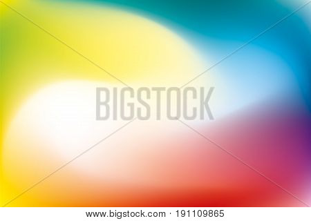 Abstract twist background, blured rainbow mesh gradient, smooth pattern for you presentation, vector design wallpaper
