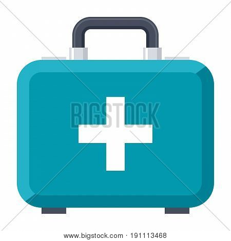 First aid kit vector icon in flat style