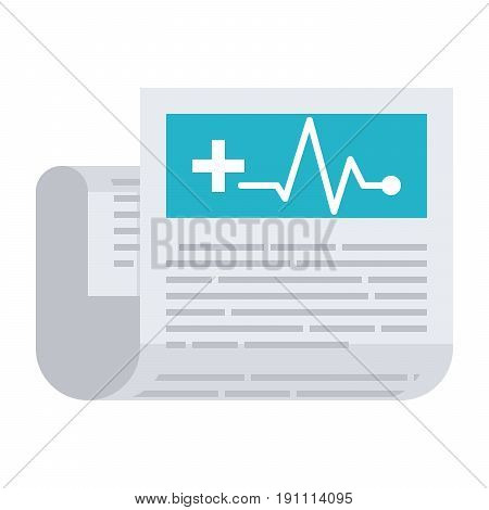Medical journal, vector icon in flat style