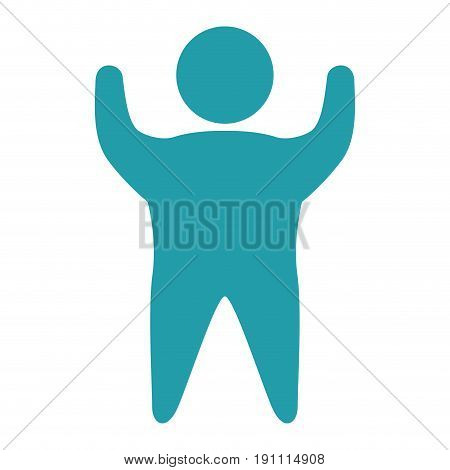 fat human silhouette isolated icon vector illustration design