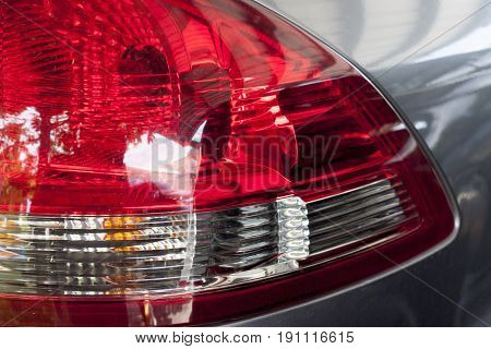 Focus on the tail lights of back car.