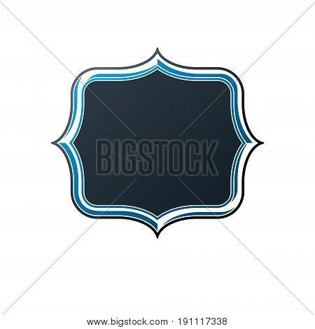 Victorian art vector frame with copy space vintage heraldic design. Heraldic template illustration mirror border decorative element.