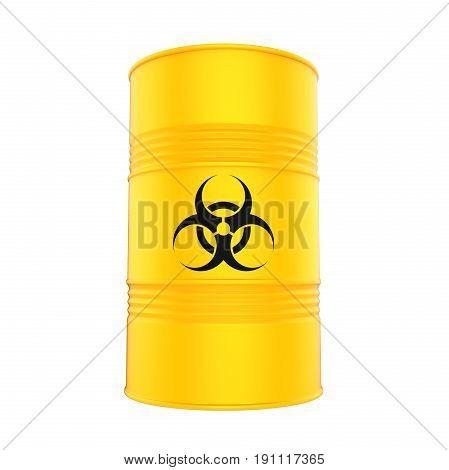 Biohazard Barrel isolated on white background. 3D render