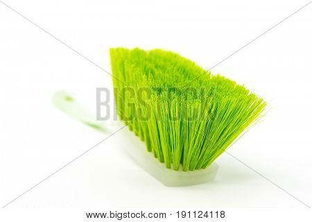 Close-up Of Broom isolated on white background