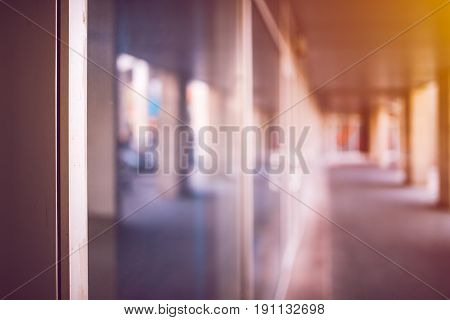 Business office premises abstract blur background as copy space