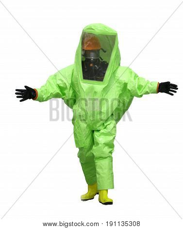 Green Protective Suit On White Background