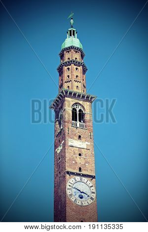 High Tower Of An Ancient Palace Called Torre Bissara In Italy