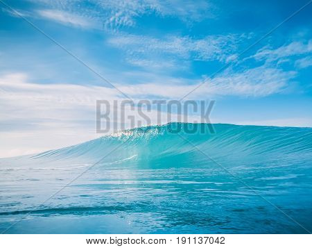 Blue wave and blue sky in tropic