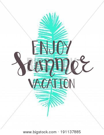 Summer Lettering Holiday.