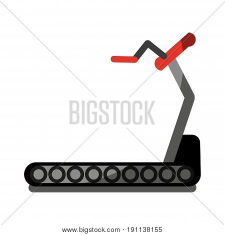 treadmill fitness related icon image vector illustration design