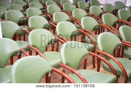 Comfortable Seats In Empty Corporate Meeting Office For  Presentation