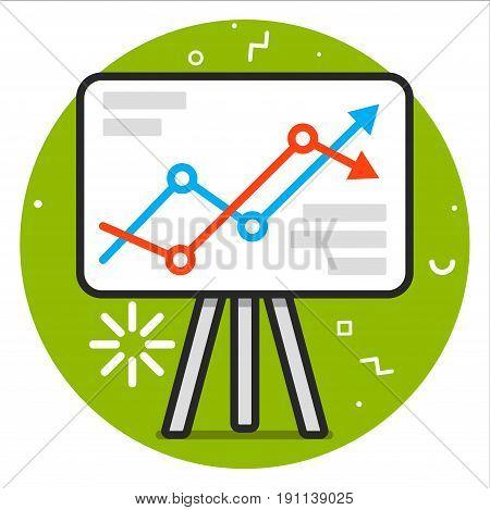 Graph icon . Vector Eps 10 design illustration