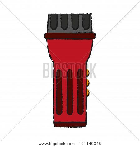 flashlight camping icon image vector illustration design