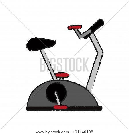 stationary bike spinning fitness related icon image vector illustration design