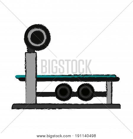 bench press fitness related icon image vector illustration design