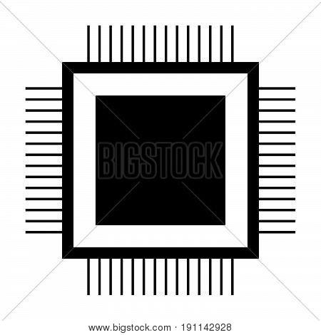 Processor The Black Color Icon .