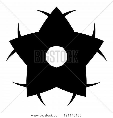 Flower The Black Color Icon .