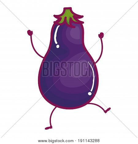 beet fresh vegetable kawaii character vector illustration design