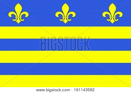 Flag of Montreuil or Montreuil-sur-Mer is a sub-prefecture in the Pas-de-Calais department in northern France. Vector illustration