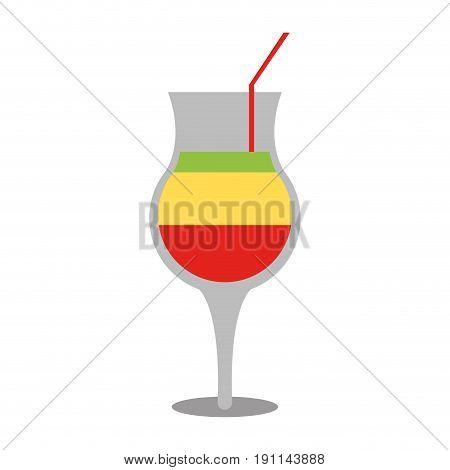 Refreshing liquor cocktail illustration icon vector graphic design
