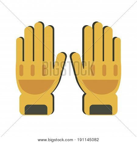 Fire fighter gloves icon vector illustration design graphic