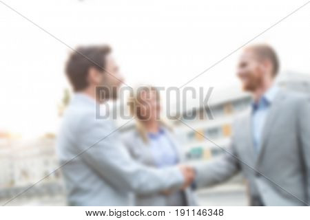 Blurred Business Concept: Casual Business After Hours