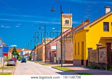 Colorful Street Of Koprivnica View
