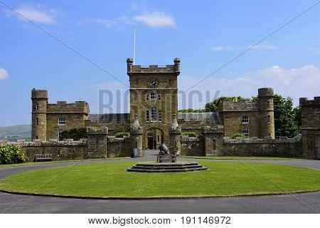 Exterior of the Culzean Castle in Scotland.