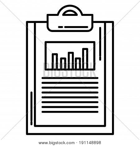 clipboard paper with statistics vector illustration design