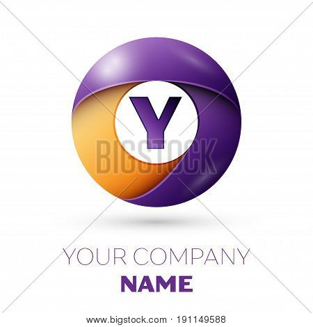 Letter Y Vector Logo Symbol In The Colorful Circle On White Background. Vector Template For Your Des
