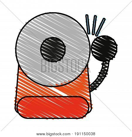 Fire warning alarm icon vector illustration design graphic scribble