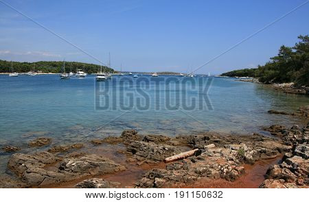peaceful bay in Kamenjak national park, Croatia