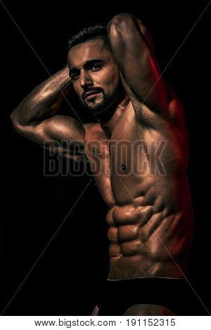 Guy With Muscular Body In Underwear Pants