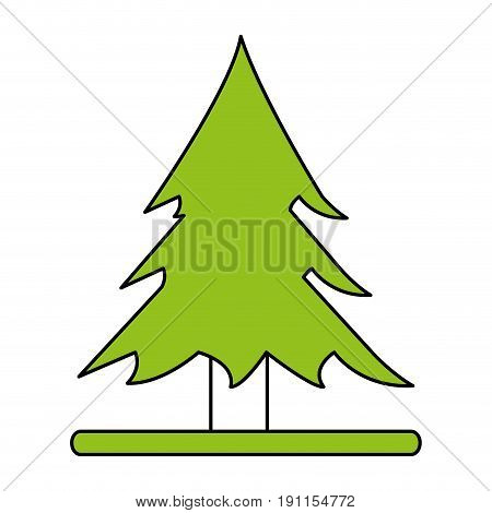 Wonderful tree forest icon vector illustration design graphic flat