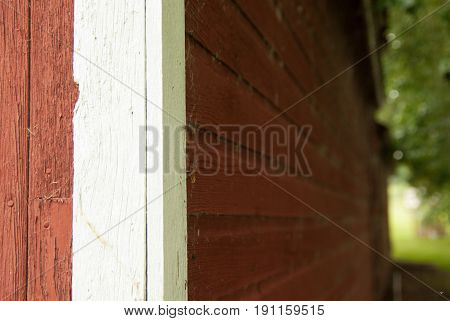 A closeup of an old barn's wooden walls