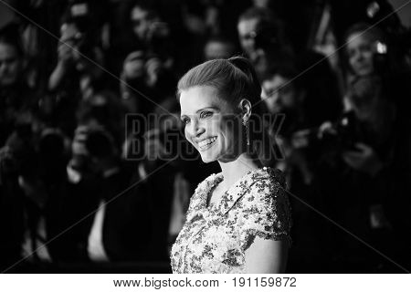 Jessica Chastain attends the 'In The Fade (Aus Dem Nichts)' premiere during the 70th annual Cannes Film Festival at Palais des Festivals on May 26, 2017 in Cannes, France.