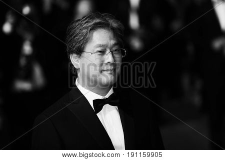 Park Chan-wook attends the 'In The Fade (Aus Dem Nichts)' premiere during the 70th annual Cannes Film Festival at Palais des Festivals on May 26, 2017 in Cannes, France.