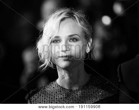 Diane Kruger  attends the 'In The Fade (Aus Dem Nichts)' premiere during the 70th Cannes Film Festival at Palais des Festivals on May 26, 2017 in Cannes, France.