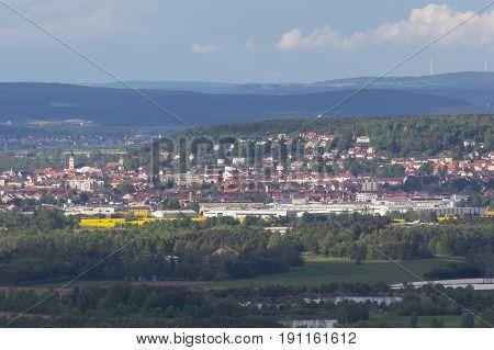 Schwandorf in bavaria picture taken a little Mountain next to M