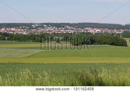 Schwandorf in bavaria picture taken a little Mountain next to Goegglbach
