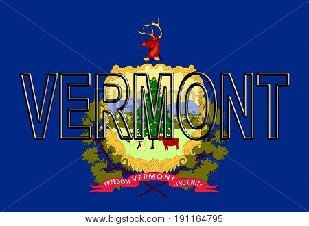 Flag Of Vermont Word