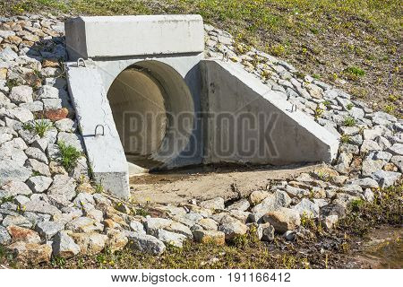Drain Pipe Under The Road For Water