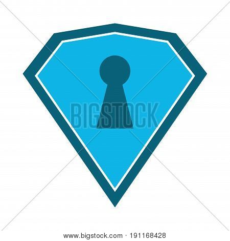 Locked diamond lock icon vector illustration design graphic