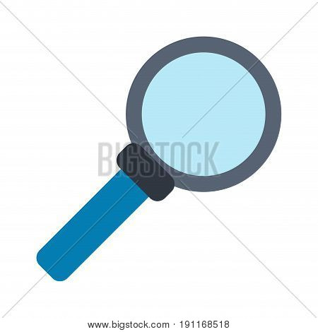 Magnifying glass looking for objects icon vector illustration design graphic