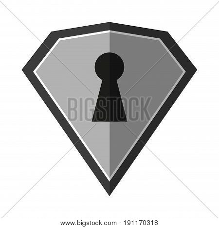 locked diamond lock icon vector illustration design graphic doodle