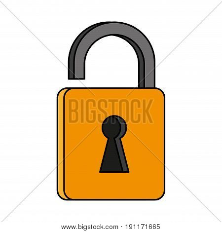 unlocked  padlock accessory icon vector illustration design graphic flat