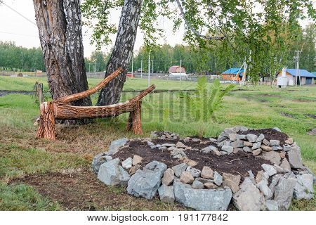 Tree Chair. The Seat Mat Made With Own Hands.