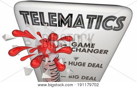 Telematics Connectivity Mobile Technology Thermometer 3d Illustration