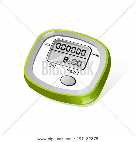 Vector image of a digital meter. Vector Illustration design